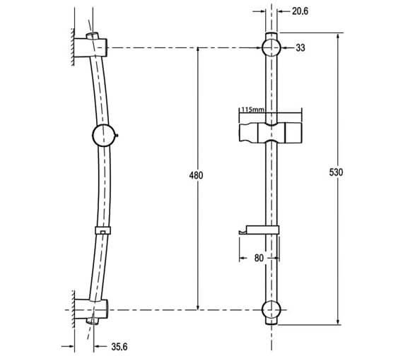 Technical drawing QS-V29274 / TSKFLUCLARWC