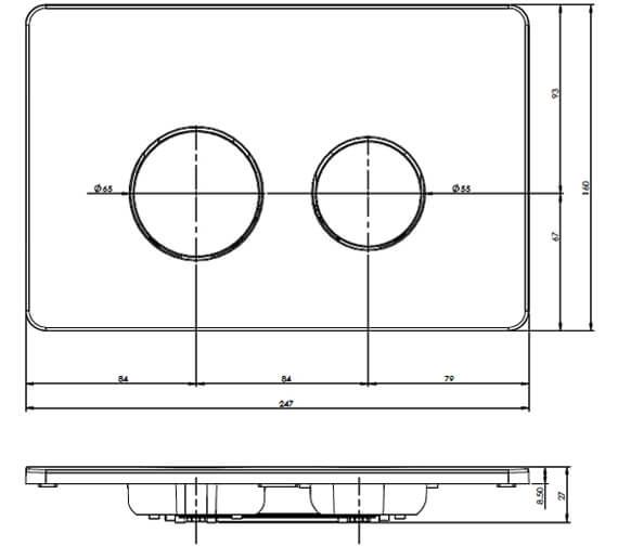 Technical drawing QS-V80986 / FP150