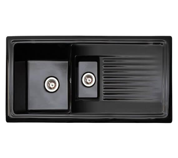 Reginox Regi-Ceramic 1.5 Bowl Black Inset Sink 1010 x 525mm
