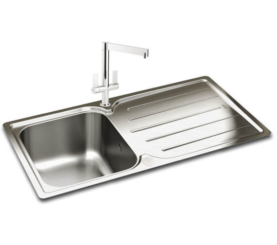 Carron Phoenix Adelphi 100 Polished 1.0 Bowl Inset Kitchen Sink
