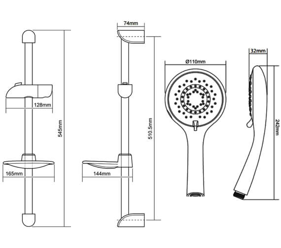 Technical drawing QS-V29277 / TSKFLEO8000WC