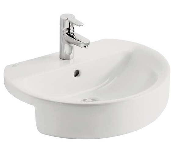 Ideal Standard Concept Sphere 550mm Semi-Countertop Washbasin With 1 Tap Hole
