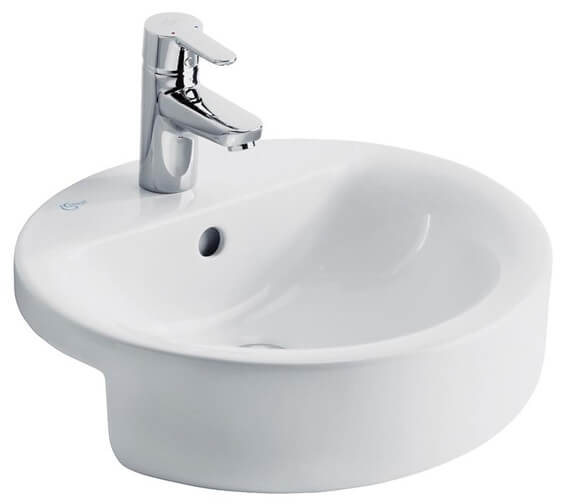 Ideal Standard Concept Sphere 450mm Semi Countertop Washbasin With 1 Tap Hole