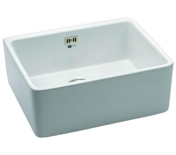 Carron Phoenix Belfast 100 White 1.0 Bowl Sit On Kitchen Sink