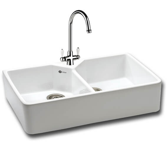 Carron Phoenix Belfast 200 White 2.0 Bowl Sit On Kitchen Sink