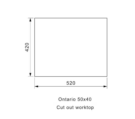 Additional image for QS-V94078 Reginox Sinks - ONTARIO 18X40 L