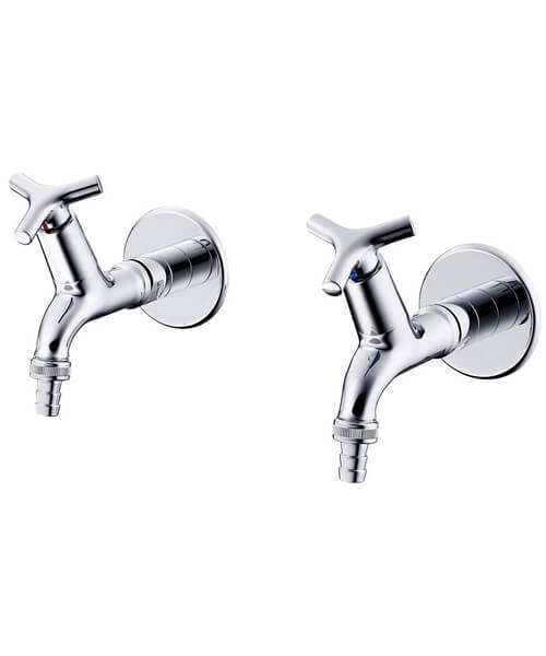 Armitage Shanks Nimbus 21 1/2 Inch Bib Taps With Hose Union Outlet Pair