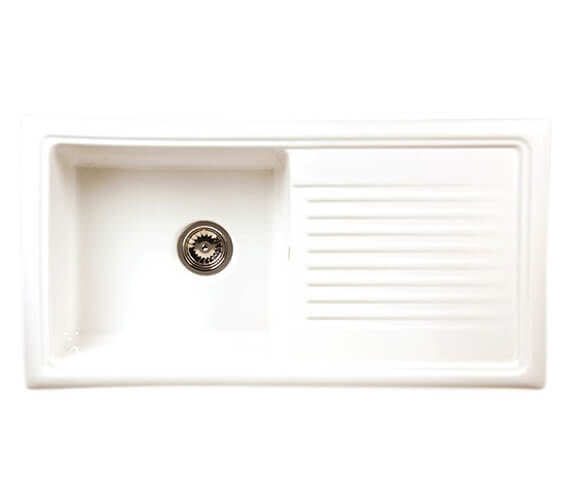 Reginox Regi-Ceramic 1010 x 525mm 1.0 Bowl Inset Sink White