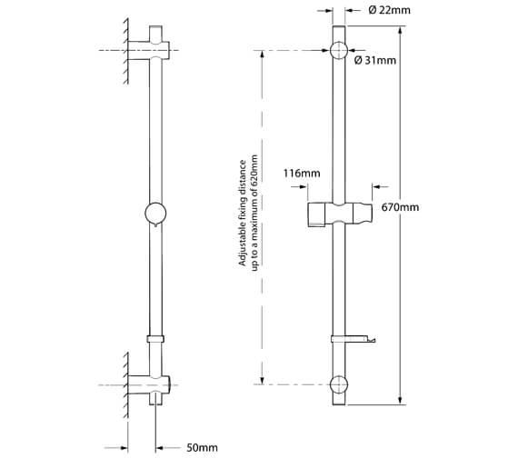 Technical drawing QS-V29077 / TSKPROFITWC