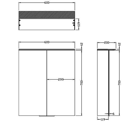 Technical drawing QS-V80989 / 2061