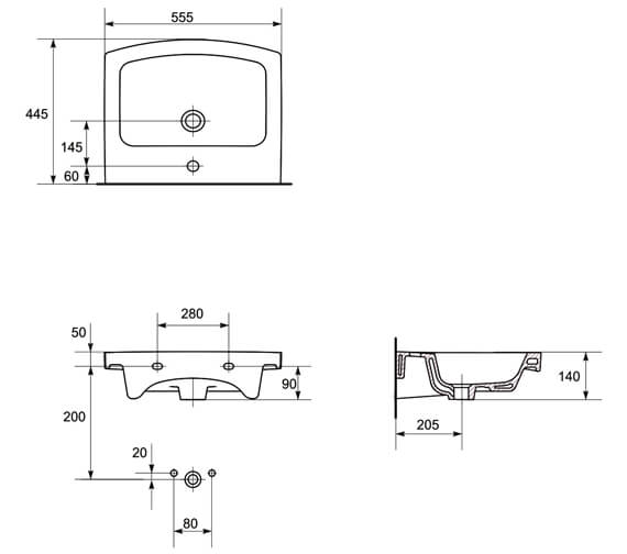 Technical drawing QS-V88212 / 60621