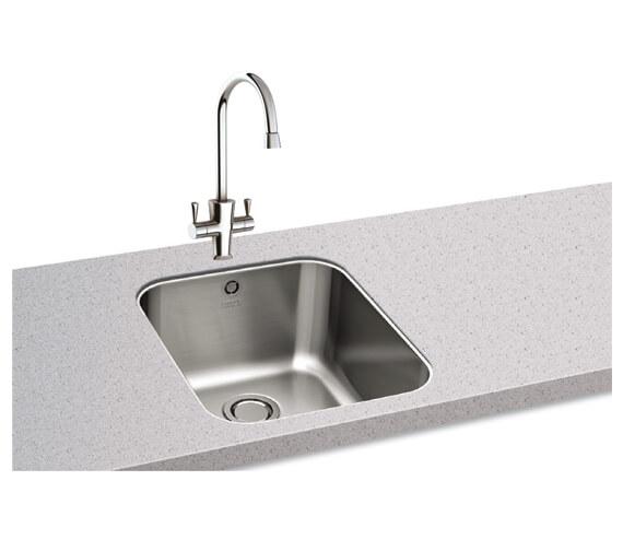 Carron Phoenix Ibis 100 Polished 1.0 Bowl Undermount Kitchen Sink