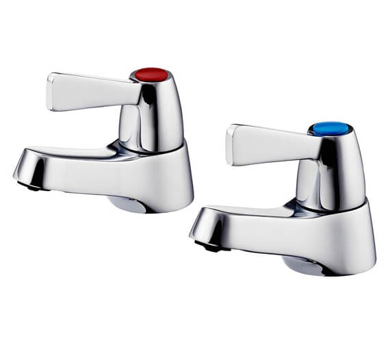 Armitage Shanks Alterna 21 1/2 Inch Pair of Basin Pillar Taps With Lever Handles
