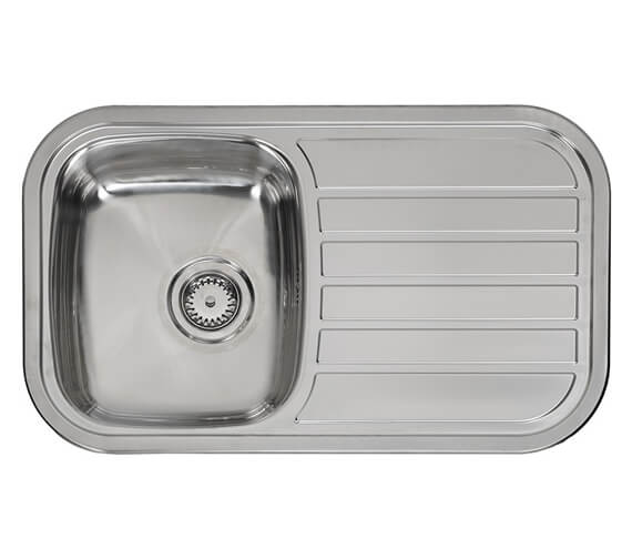 Reginox Regent 805 x 480mm Single Bowl Stainless Steel Inset Sink With Main Bowl Left