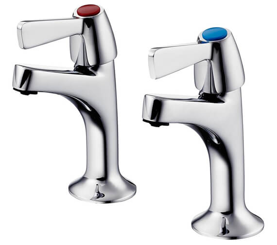 Armitage Shanks Alterna 21 1-2 Inch Pair Of High Neck Pillar Taps
