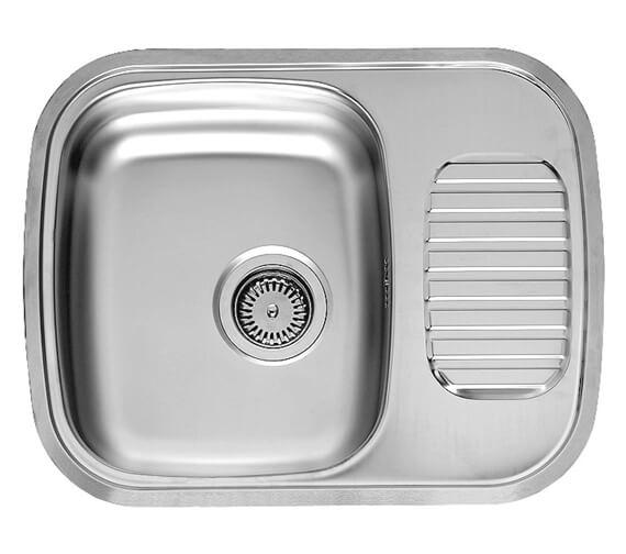 Reginox Regidrain 595 x 470mm Single Bowl Stainless Steel Reversible Inset Sink
