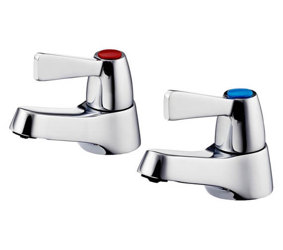 Armitage Shanks Alterna 21 3-4 Inch Pair Of Bath Pillar Taps With Lever Handles
