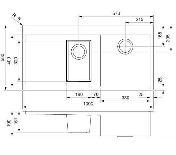 Technical drawing QS-V94076 / ONTARIO L 1.5 LHD