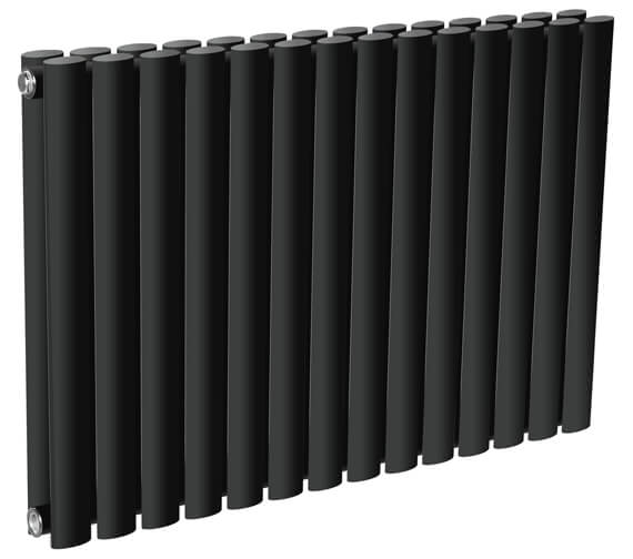 Additional image of Reina Neva 550mm High Double Panel Horizontal Designer Radiator White Or Anthracite Finish