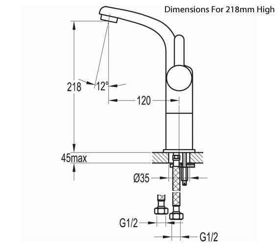 Alternate image of Flova Essence Cloakroom 132mm High Basin Mixer Tap With Clicker Waste