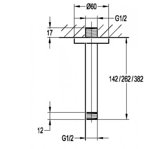 Technical drawing QS-V27254 / KI08