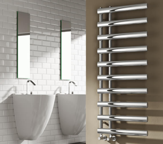 Reina Grace 500mm Wide Steel Designer Radiator Chrome