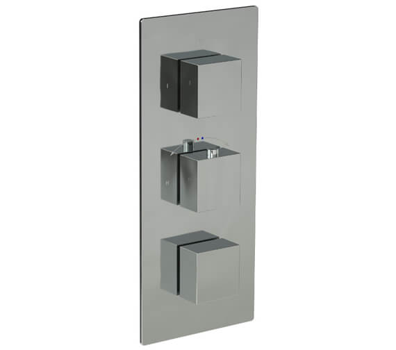 Saneux Tooga Concealed Three Way Thermostatic Portrait Shower Valve