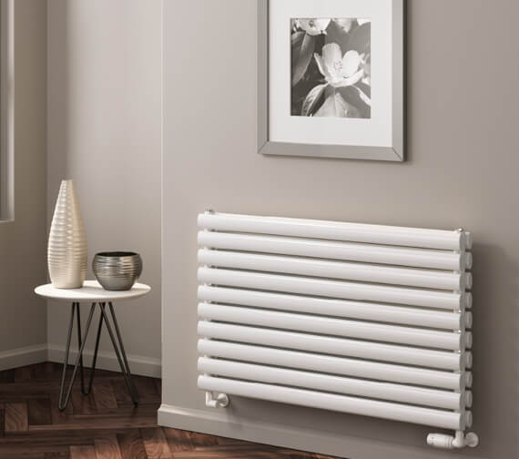 Reina Nevah 295mm High Single Panel Steel Designer Radiator White Or Anthracite Finish