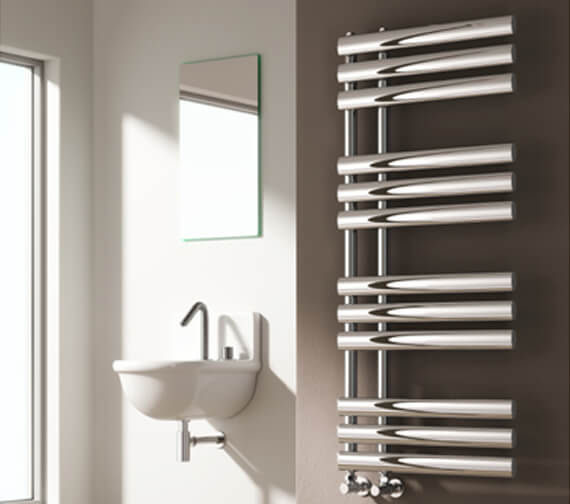 Reina Chisa 500mm Wide Steel Designer Radiator Chrome