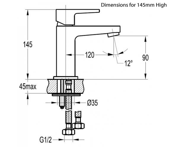 Technical drawing QS-V27190 / DESBAS