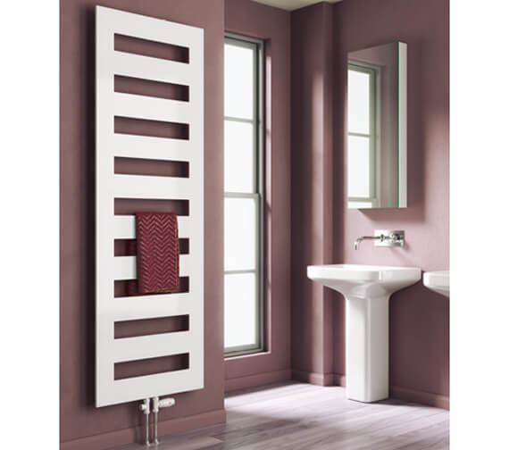 Reina Fondi 500mm Wide Steel Designer Radiator In White Or Anthracite Finish 855mm High