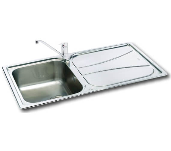 Carron Phoenix Zeta 100 Polished 1.0 Bowl Inset Kitchen Sink