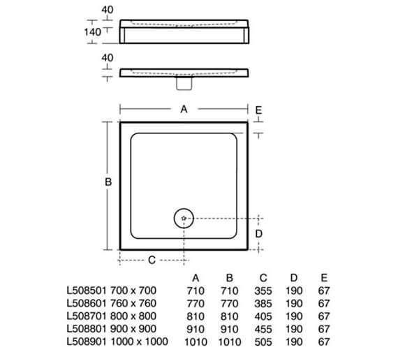 Technical drawing QS-V25841 / L508501