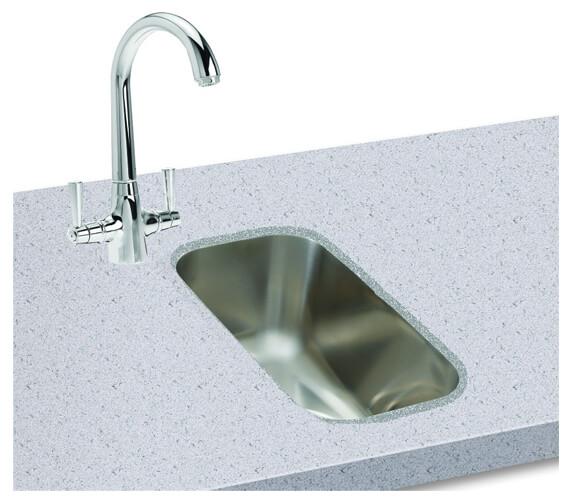 Carron Phoenix Zeta 50U Polished 1.0 Bowl Undermount Kitchen Sink
