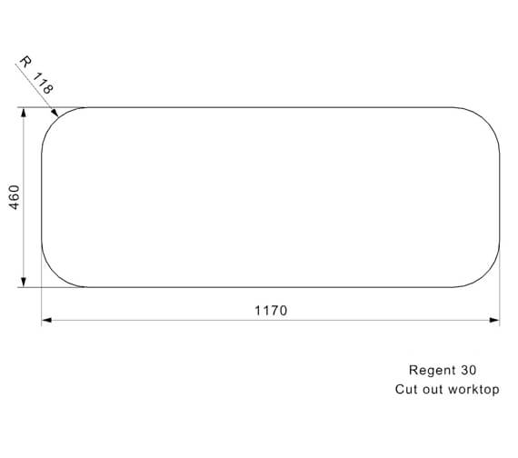 Additional image of Reginox Sinks  REGENT 30 LUXA RHD