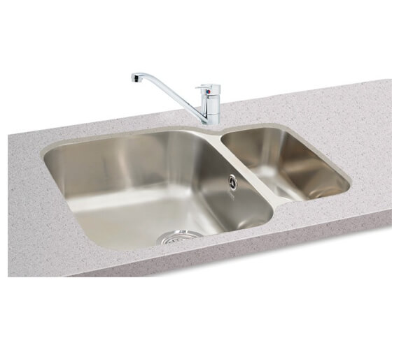 Carron Phoenix Zeta 150U Polished 1.5 Bowl Undermount Kitchen Sink