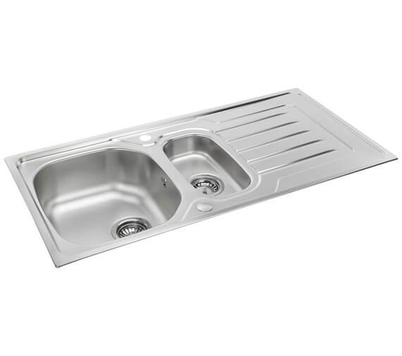 Carron Phoenix Onda 150 Polished 1.5 Bowl Inset Sink