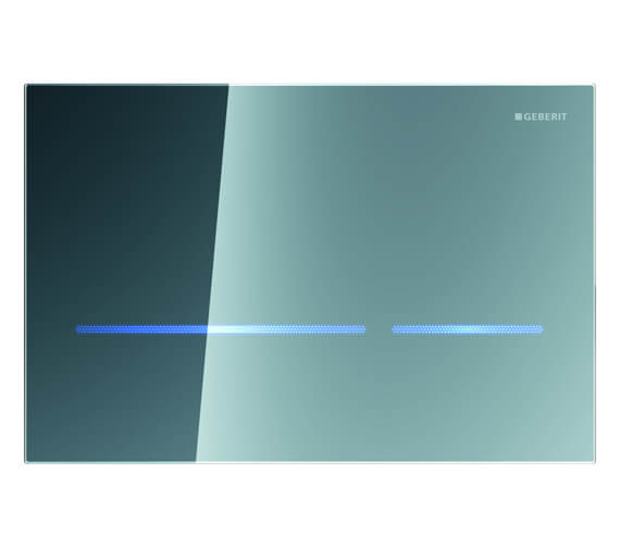 Additional image of Geberit Sigma80 Touchless Mains Operated Dual Flush Plate Black Glass