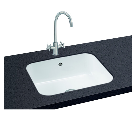 Carron Phoenix Carlow 105 White 1.0 Bowl Undermount Sink