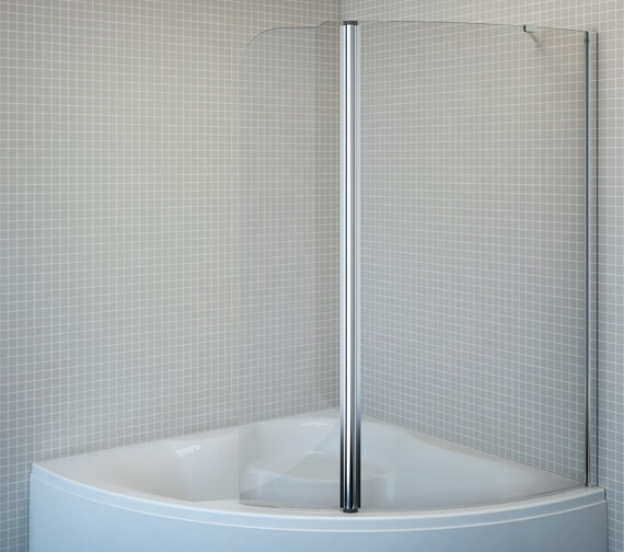 Aquaestil Gemma 1500 x 1600mm Left Handed Shower Screen