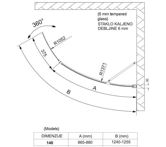 Technical drawing QS-V14262 / 154GEMMA1400LH