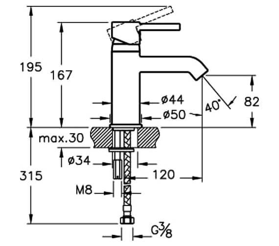 Technical drawing QS-V57885 / A41984VUK