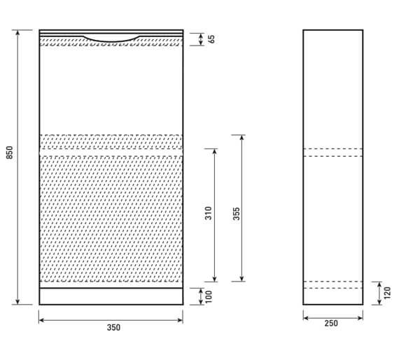Technical drawing QS-V6688 / UN042