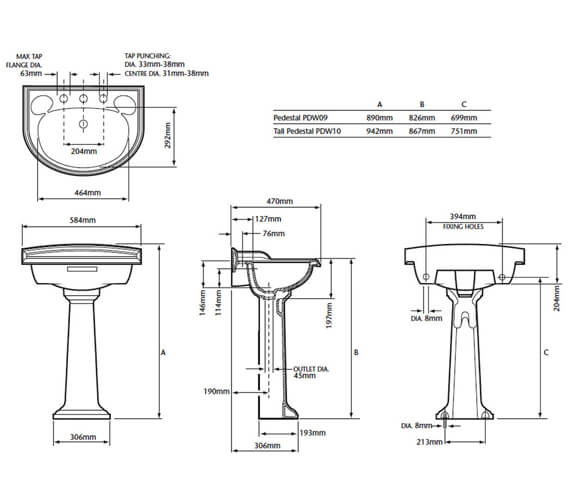 Technical drawing QS-V24271 / PDW061