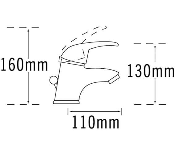 Additional image of Tre Mercati Latina Mini Mono Basin Mixer Tap