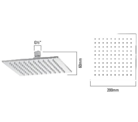 Technical drawing QS-V23380 / SVHEAD14