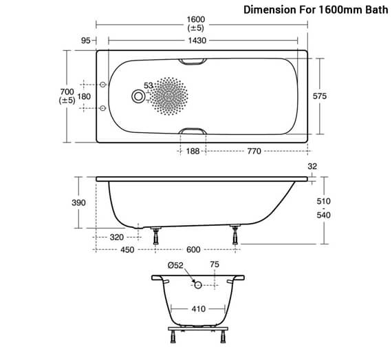 Additional image for QS-V10157 Ideal Standard Bathrooms - E818501