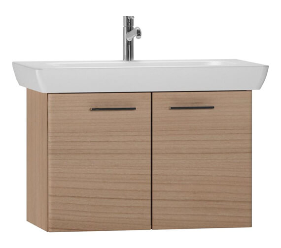 Additional image of VitrA S20 850 x 460mm Vanity Unit And Basin White High Gloss