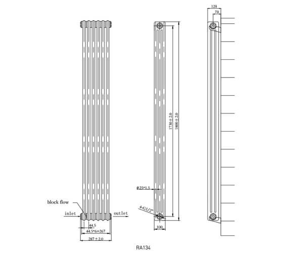 Technical drawing QS-V75923 / RA134