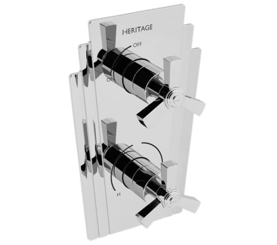 Heritage Gracechurch Chrome Recessed Shower Valve Only
